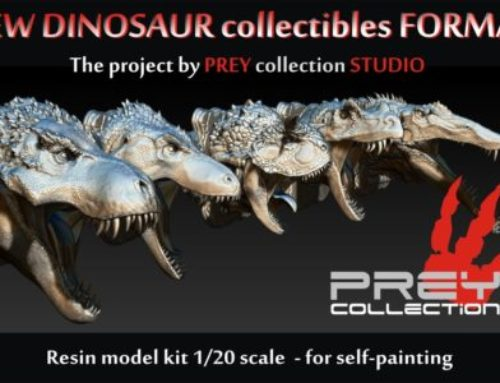 Prey Collection of dinosaurs crowdfunding campaign